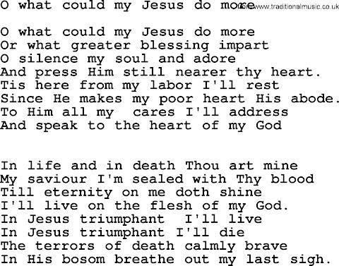 Tell Me What More Can Jesus Do Lyrics