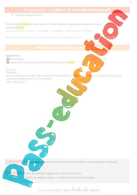 Semaine 19 école à La Maison Ce1 Pass Education