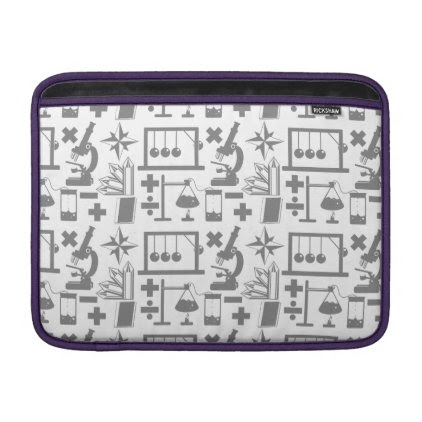 Science Biology Physics Geography Math Pattern MacBook Sleeve