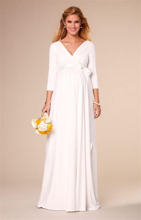 Willow Maternity Wedding Gown Long Ivory   Maternity