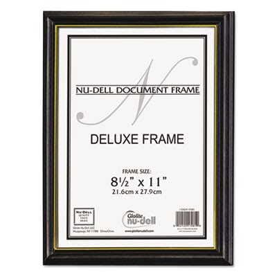 Deluxe Wood Document Frame Plastic Face 8 12 X 11 Black Frames