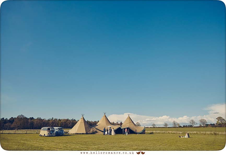 Tipis at wedding in Wordwell, Bury St Edmunds - www.helloromance.co.uk