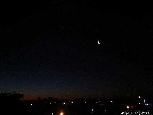 Luna luces y penumbra