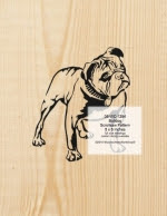 Bulldog Scrollsaw Pattern - fee plans from WoodworkersWorkshop® Online Store - bulldogs,pets,animals,yard art,painting wood crafts,scrollsawing patterns,drawings,plywood,plywoodworking plans,woodworkers projects,workshop blueprints
