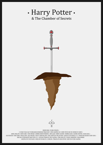 Harry Potter And the Chamber of Secrets - Minimalist Poster