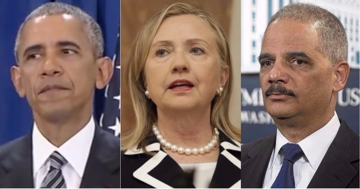 Image result for Obama, Hillary & Holder