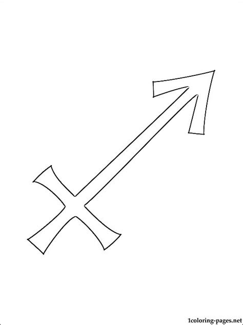 sagittarius horoscope  zodiac sign coloring pages
