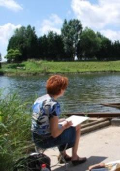 Afbeeldingsresultaat voor klapstoeltje schilder landschap
