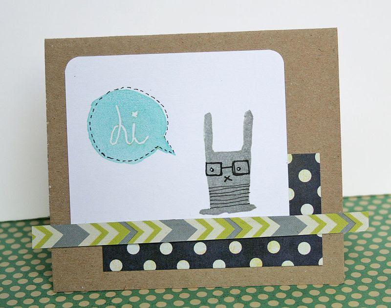 Eraser stamping - card