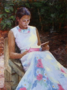 """Rapt Romance"" - 24""x 18"" - Oil  (Dianne Rudy Memorial Award, American Artists Professional League)"