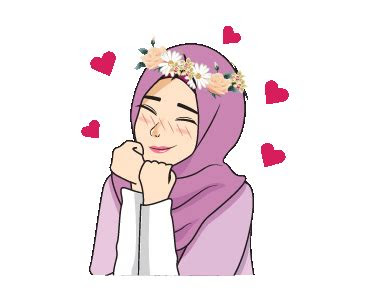 creators stickers lovely hijab girl animated