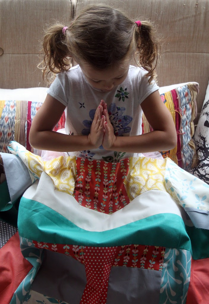 Haila ~ Namaste ~ Quilt top -- I LOVE this photo!