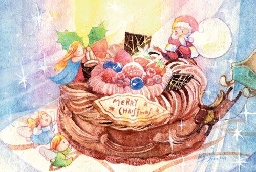 クリスマスケーキのイラスト昔描いたクリスマスケーキのイラスト