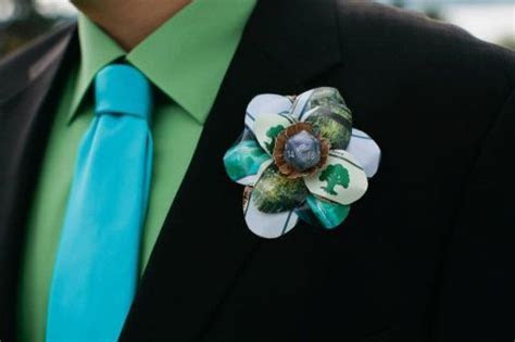 MTG Magic The Gathering boutonniere wedding dice die land