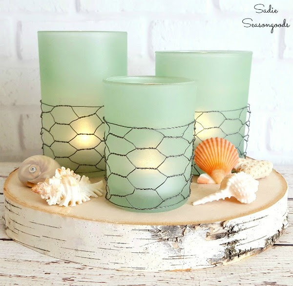Coastal Farmhouse Sea Glass Candles | Sadie Seasongoods