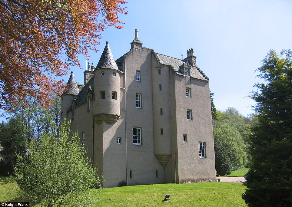 Magnificent: The 16th Century Lickleyhead Castle in Auchleven near Aberdeen was built in 1560 by William Leith and boasts seven bedrooms and seven bathrooms