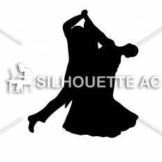 社交ダンスシルエット イラストの無料ダウンロードサイトシルエットac