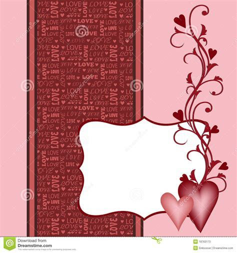 Template For Valentine Or Wedding Greetings Card Stock