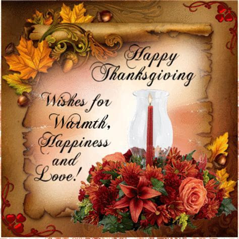Happy Thanksgiving Wishes For Warmth, Happiness And Love
