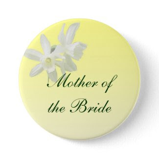 Yellow Floral Wedding Mother of the Bride Pin
