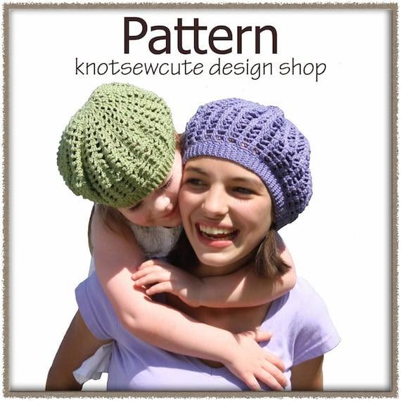 Girl's Cotton Tam - Crochet Pattern
