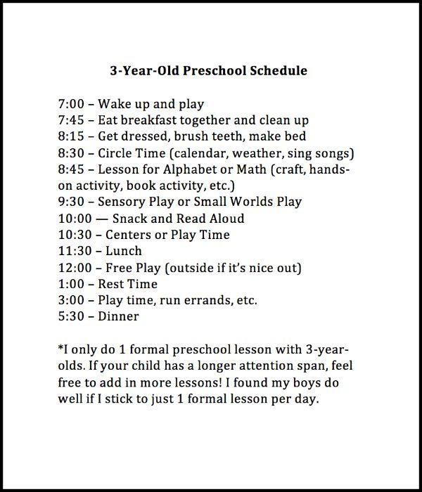 1000+ ideas about Preschool Schedule on Pinterest | Home preschool ...