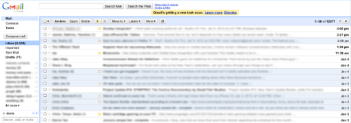 The old Gmail UI