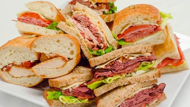 Image result for gourmet deli sandwich assortment