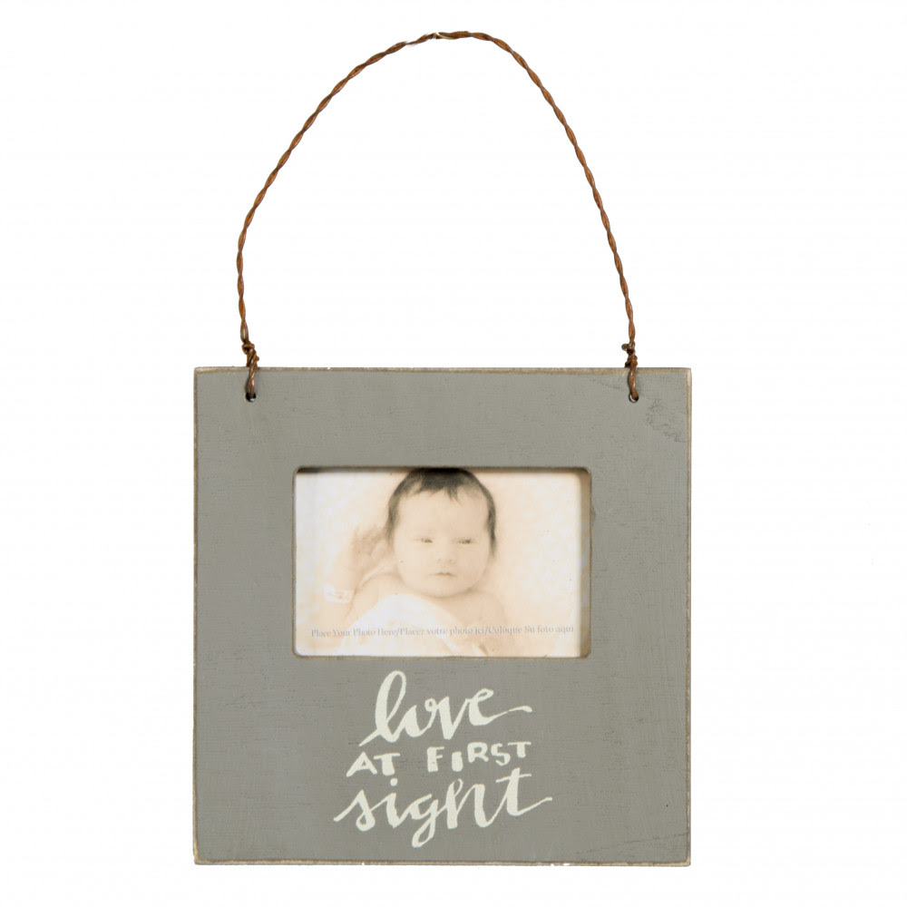 Mini Frame Ornament Grey Love At First Sight 26812 Craftoutletcom