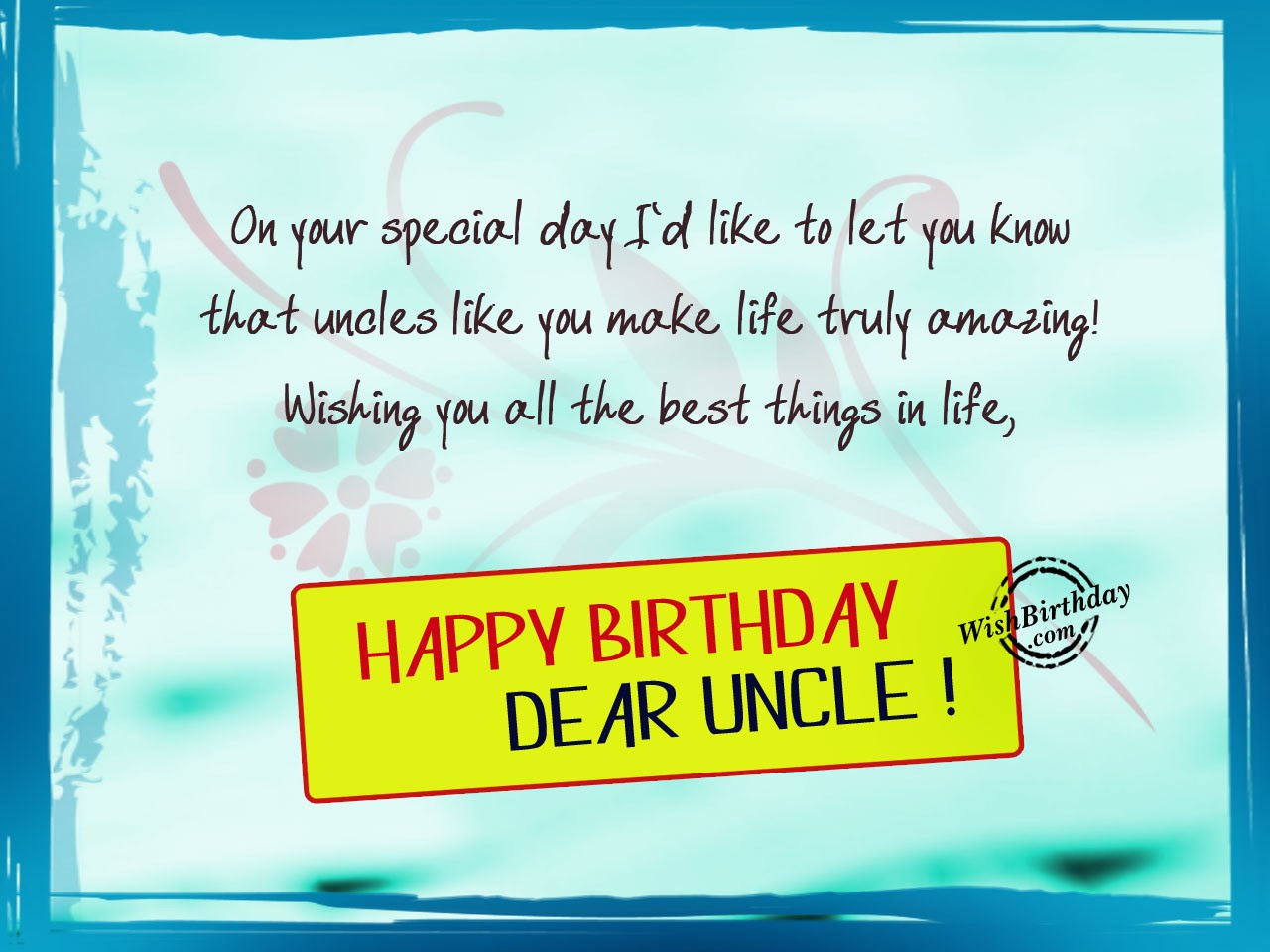 15 Happy Birthday Wishes Quotes For Uncle Top Colection For