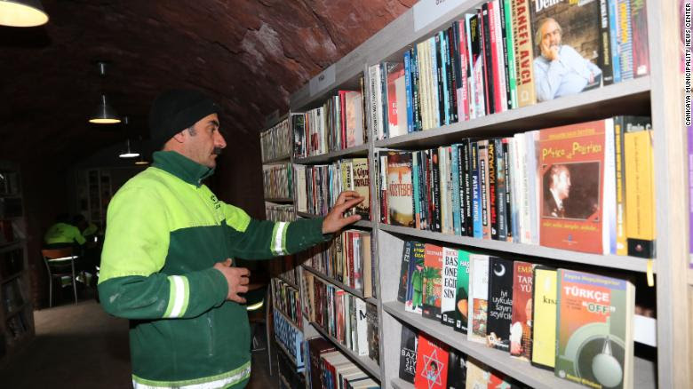 Garbage Collectors Open Library With Abandoned Books by Spencer Feingold for CNN