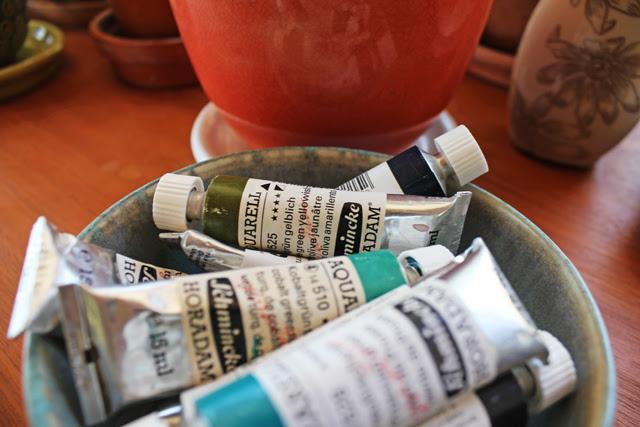 Watercolor tubes