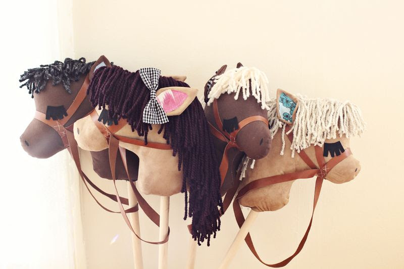 Adorable stick horses- such a great gift idea