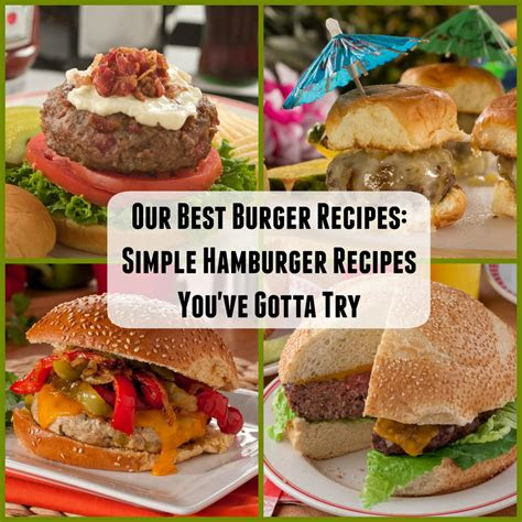 burger recipes  simple hamburger recipes