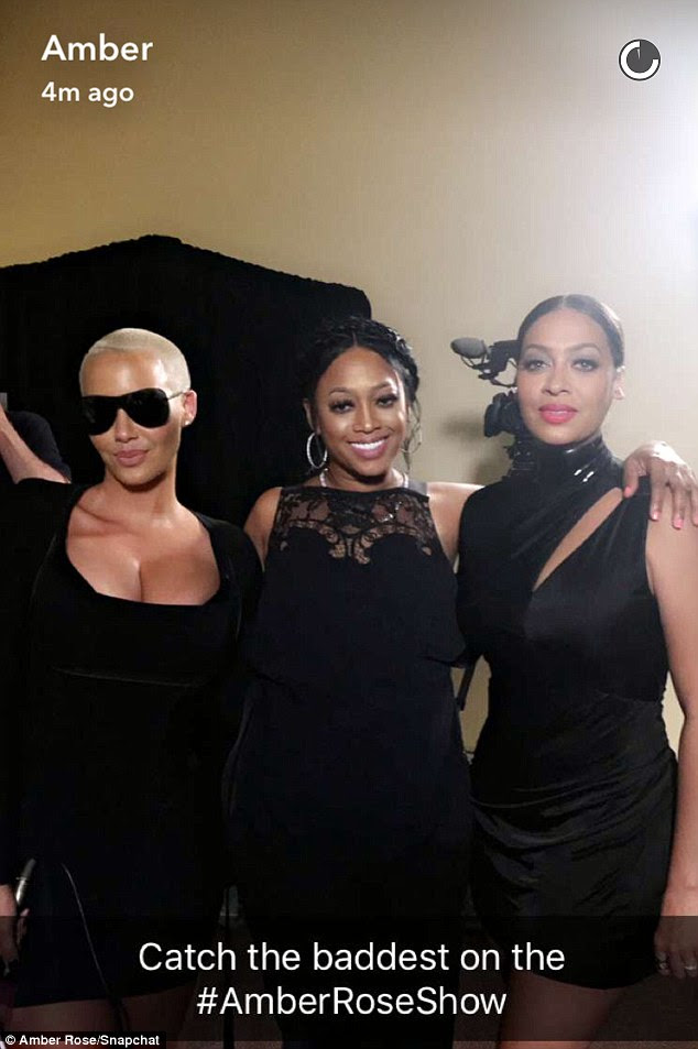Back in black: One of Amber's interviewees was La La Anthony