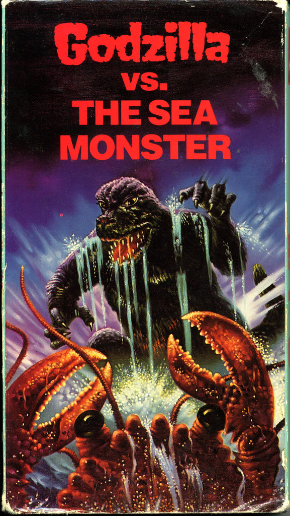 Godzilla vs Seamonster (VHS Box Art)