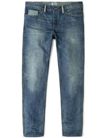 He By Mango Straight-fit Dark Marc Jeans