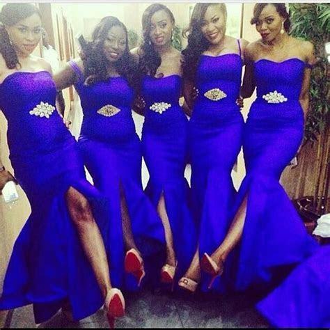 2015 Cheap Royal Blue Mermaid Bridesmaid Dresses Beaded