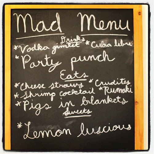 "The ""Mad Menu"" #madmenparty"
