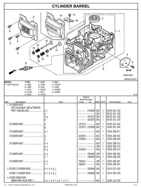 GCV160LA0 General Purpose Engine Parts Catalog | Honda