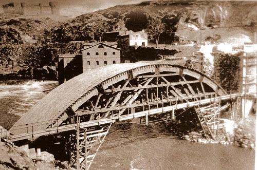 Construcción del Puente Nuevo de Alcántara