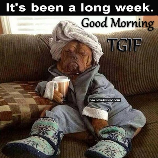 Good Morning Its Been A Long Week Tgif Pictures Photos And Images