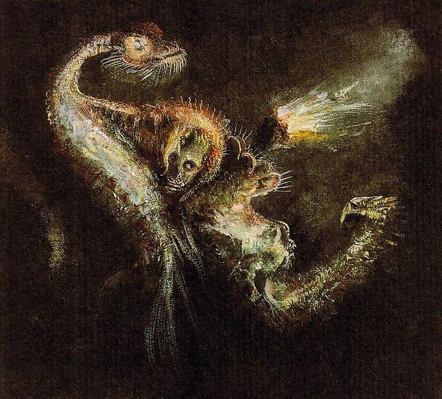 Alfred Kubin - Hexe und Wasserschlange