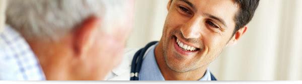 Doctor smiling at Veteran