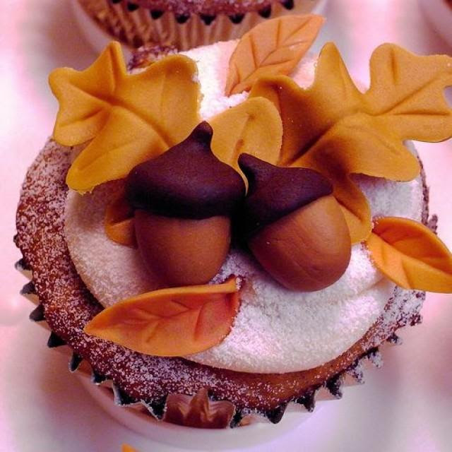 Image result for acorn cupcakes