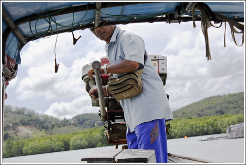 Boat ride to Bang Mud Seafood