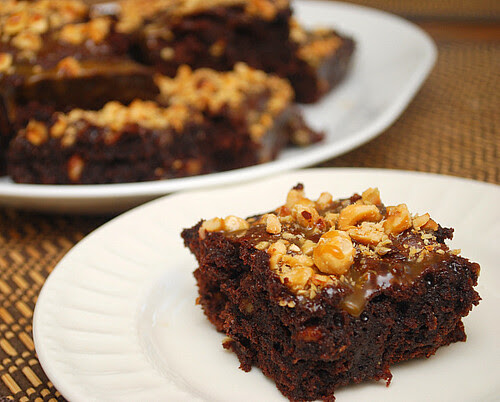 Hazelnut Caramel Brownies