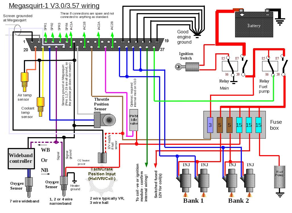 Megasquirt 1 External Wiring Layouts
