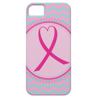 Chevron Pink Ribbon iphone 5 Case