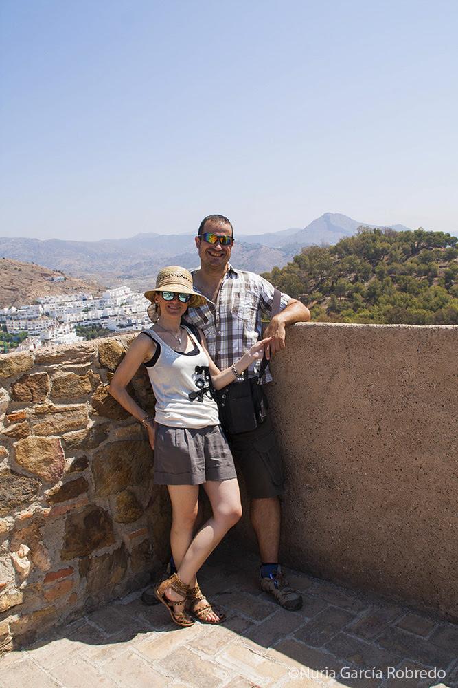 Andrés y yo en el Castillo de Gibralfaro